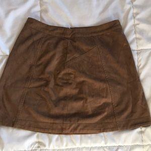 tan/brown skirt